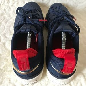 wholesale dealer be957 99e18 Nike Shoes - NIKE AIR NEW Lebron 14 XIV Low Size 11.5 Navy Gold
